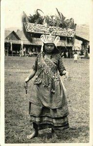 indonesia, SUMATRA, Native Lampung Girl (1940) RPPC Postcard