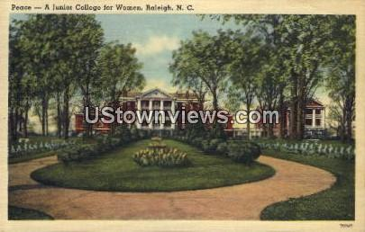 Peace - Junior College for Women Raleigh NC Unused