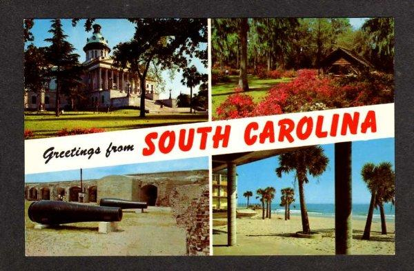 SC Greetings from SOUTH CAROLINA Multi View Cannon PC