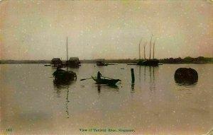 Singapore View of Tanjong Rhoo Boats Lake Postcard