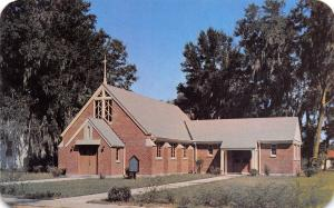 Lake City Florida~St Luke's Lutheran Church~Red brick~1950s Postcard