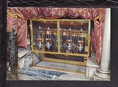 Crypt of the Grotto,Bethlehem,Israel Postcard BIN