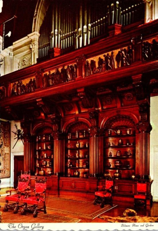 North Carolina Asheville Biltmore House and Gardens The Organ Gallery
