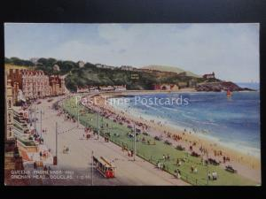 Isle of Man: Douglas, Queens Promenade & Onchan Head c1934 by Valentine's A.166