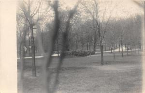 Paw Paw Michigan~Path in Park Looking Through Trees~1913 RPPC Postcard