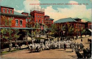 Cambridge Springs PA~Big Irish Street Minstrels~Fenced Roof~Hotel Bartlett~1912