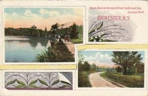 New York Rochester Rustic Road On Way To Trout Lake and Zoo Seneca Park 1909