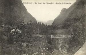 reunion, Le Pont de l'Escalier, Staircase Bridge (1899) Messageries Maritimes
