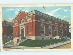 W-Border POST OFFICE SCENE Hagerstown Maryland MD d8948