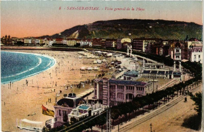 CPA San Sebastian Vista general de la Playa SPAIN (743310)