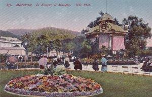 MENTON, Alpes Maritimes, France, 1900-1910s; Le Kiosque De Musique