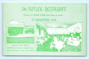 Postcard FL St Augustine The Neptune Restaurant Multiview Interior #2 E17