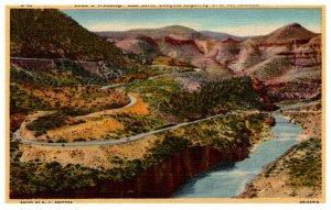 Arizona  Road at Winding , Salt River Canyon