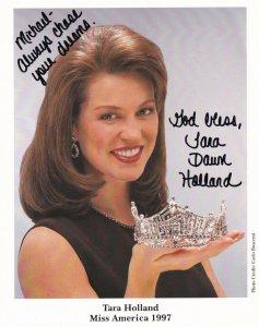 RP; Autograph Photograph Of TARA HOLLAND, Miss America 1997