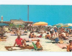 Unused Pre-1980 BEACH SCENE Wildwood New Jersey NJ d6794