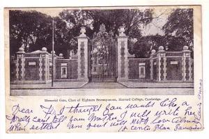 B&W Memorial Gate Harvard College, Cambridge, Massachusetts, Weston Metal Han...