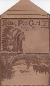 MANITOU , Colorado , 1910-20s ; Cave of the Winds Folder Postcard