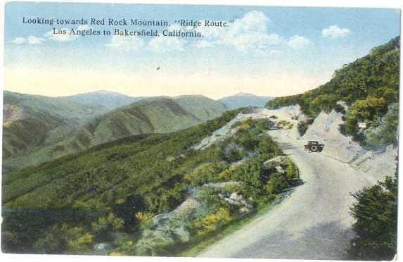 D/B Ridge Route Los Angeles to Bakersfield California CA