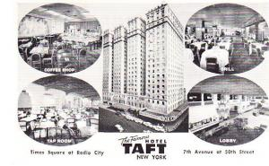 New York City Hotel Taft 1957