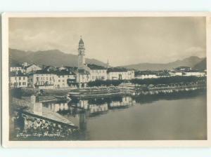 old rppc NICE VIEW Ascona In Locarno - Ticino Switzerland i2093
