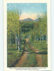 Unused Linen PARK SCENE Estes Park - Near Denver Colorado CO H2137