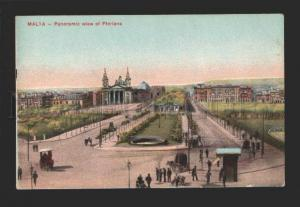 078948 Malta Panoramic view of Floriana Vintage colorful PC