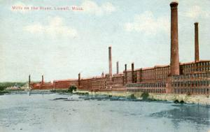 MA - Lowell. Mills on the River