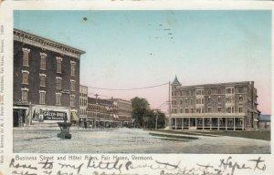 FAIR HAVEN , Vermont , 1905 ; Business Street and Hotel Allen