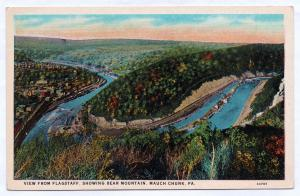 RARE 1915-30 View From Flagstaff Showing Bear Mountain Mauch Chunk PA Jim Thorpe