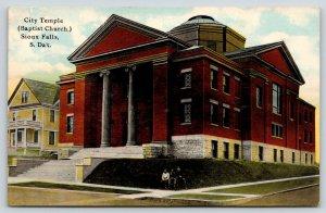 Sioux Falls South Dakota~City Temple~Boys on Baptist Church Lawn~Big House~1910