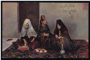Bethlehem 1909 Woman Postcard 1909 Palestine - Made in Germeny Series 1712.3
