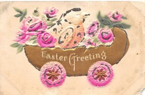 uk40916 easter greetings uk embossed novelty humanised