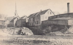 SAXTONS RIVER , Vermont , 1930s ; Old New England Mill