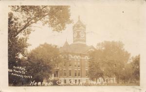 Anthony Kansas~Harper County Court House~c1910 Clarks Photo Co RPPC Postcard