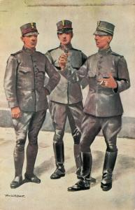 Military postcard Soldaten Rijdende Veld en Onbereden Artillerie 02.14