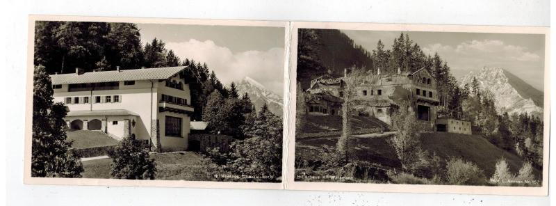 Mint Germany Obersalzburg Berchtesgaden Double Postcard Leaders Home RPPC