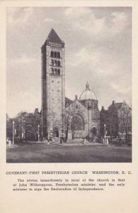 Washington DC Covenant First Presbyterian Church Albertype