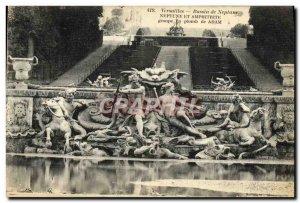 Postcard Old Versailles Bassin De Neptune and Amphitrite