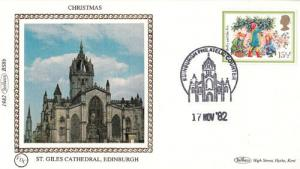 St Giles Cathedral Stamp Benham Xmas First Day Cover