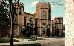 POSTCARD LIBRARY WEST POINT NEW YORK VINTAGE 1907