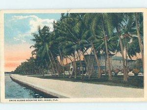 Pre-Chrome WATER SCENE Miami Florida FL AH5773