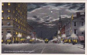 North Tryon Street By Night Charlotte North Carolina