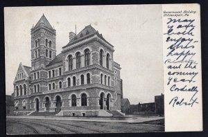 Pennsylvania WILLIAMSPORT Government Building - pm1906 - Und/B