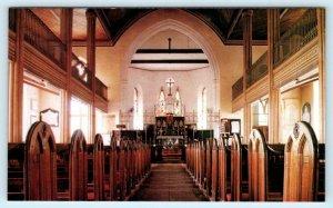 BARBADOS, West Indies ~ Interior ST. JOHN'S PARISH CHURCH ca 1960s  Postcard