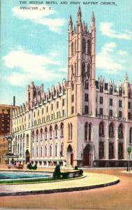 New York Syracuse The Mizzpah Hotel and First Baptist Church
