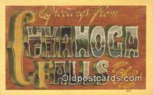 Cuvahoga Falls, Ohio USA Large Letter Town Unused