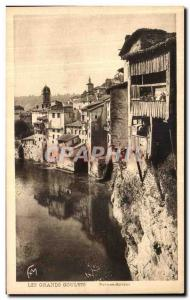 Postcard Old Bridge Royans suspended houses