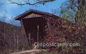 Sautee Creek, Helen, GA USA Covered Bridge Unused