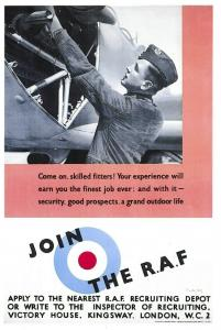 WW2 1939 Repro RAF Recruitment Poster Postcard, Come on Skilled Fitters 47R