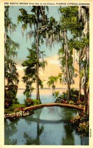 FL - Cypress Gardens. Rustic Canal Bridge